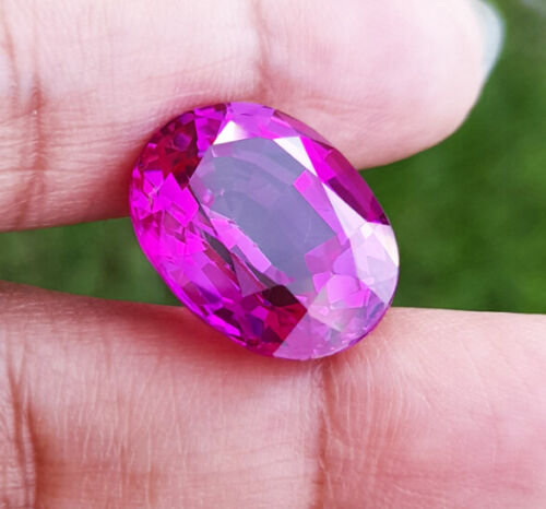 17x13.5mm. 18-19Cts. TOP PURPLE PINK Sapphire RARE COLOR Great Luster!
