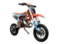 FACTORY MX 50R CHILDS DIRT BIKE SIMILAR (KTM 50 SX) KICK START KIDS MOTOCROSS