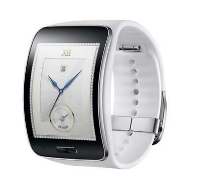 Samsung Galaxy gear S SM-R750 Curved AMOLED Smart Watch WHITE Wi-Fi No Box
