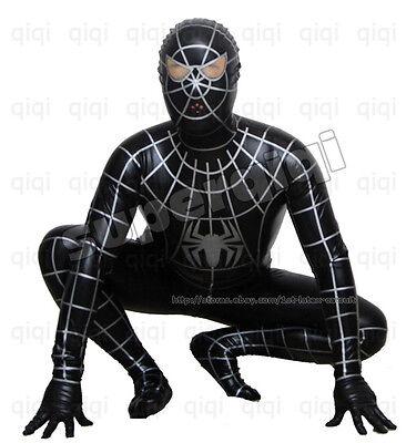 Latex/Rubber 0.8mm Spiderman catsuit suit uniform black