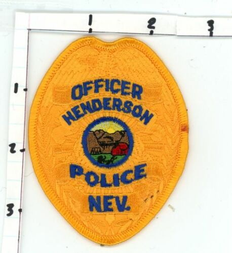 NEVADA NV HENDERSON POLICE OFFICER NEW PATCH SHERIFF