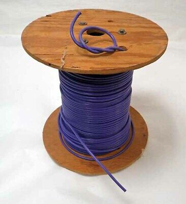 20ft Teflon Mil Spec 4awg Purple Sheath Wire Multiple Strands Copper Conductor