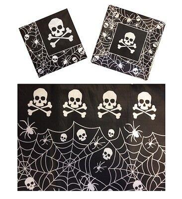Pirate Crâne & OS Croisés ~ Fête de Halloween Fournitures - Arts la Table & - Halloween Art Paper Plates