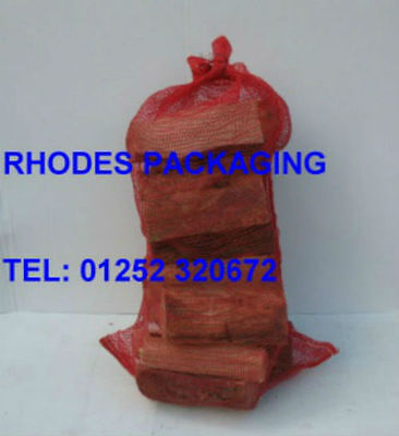 500 WOVEN LOG BAGS / FIREWOOD SACKS SIZE 520mm x 850mm