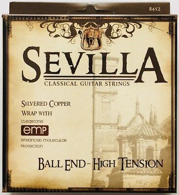 Sevilla Ball-End High Tension Classical Guitar Strings w Cleartone (High Tension Ball)