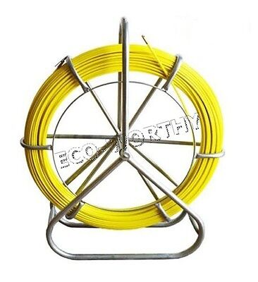 130m426.5ft Fish Tape Fiberglass Wire Cable Running Rod Walker Duct Puller 6mm