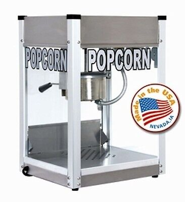 Commercial 4 Oz Popcorn Machine Theater Popper Maker Cart Paragon Pro Ps-4