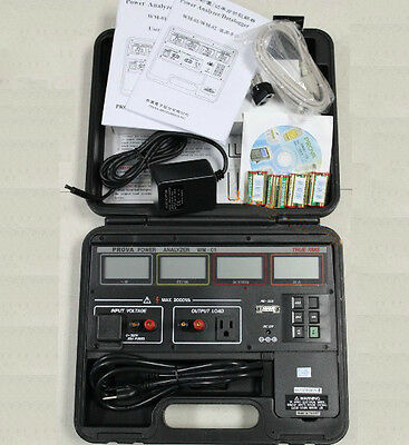 Wm-02 Power Analyzer Datalogger 4 Lcd Displays With W Pf V A Rs232 Cable Cd