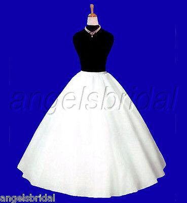 Full Crinoline Petticoat - SUPER FULL A-LINE HOOPLESS BRIDAL WEDDING GOWN PETTICOAT CRINOLINE SKIRT SLIP