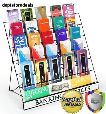 Rack Display Six Tier Black Wire Magazine Books Newspaper Vendors Light Sign Sku