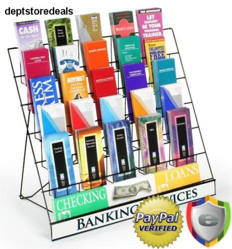 Rack Display Six Tier Black Wire Magazine Books Newspaper Vendors Light Sign Sku