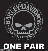 Harley Davidson Willie G Skull Decal