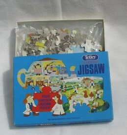 Tetley Tea Vintage double sided Jigsaw