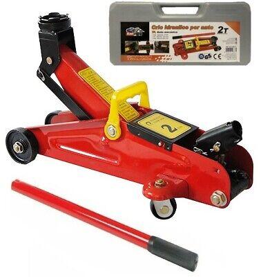 Gato hidráulico de carretilla con ruedas taller mecánico 2 ton con maleta