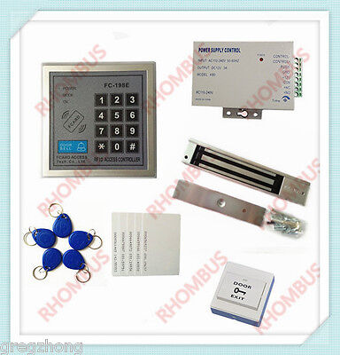 Access Control System W280kg Electronic Lockpower Supplyexit Button10em Card