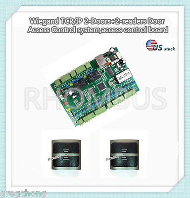 Wiegand Tcpip 2-doors2-readers Door Access Control System