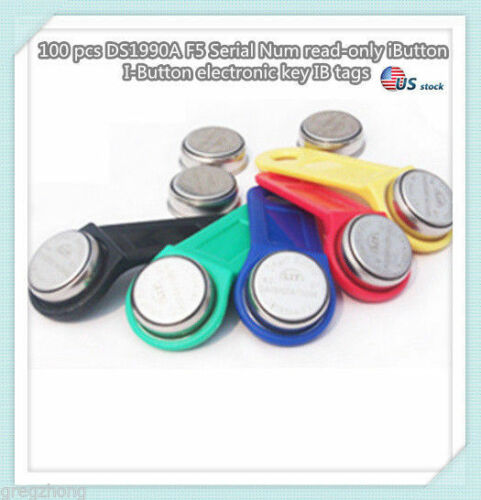 100 pcs DS1990A F5 Serial Num read-only iButton I-Button electronic key IB TAG/U
