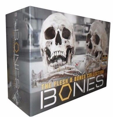 Bones  The Flesh   Bones Complete Series Collection Dvd Box Set Season 1 12 New