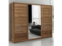 💖🔴PREMIUM QUALITY🔵💖NEW BERLIN 2&3 SLIDING DOORS WARDROBE IN 5 SIZES & IN MULTI COLORS-CALL NOW