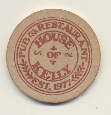 Vintage Wooden Nickel House Of Kelly Pub & Restaurant Good For One On The House