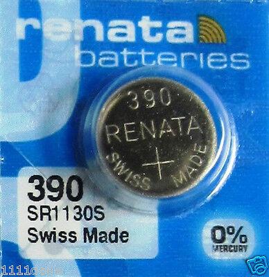 390 Renata  Coin Cell Silver Oxide Batteries 2 Pcs