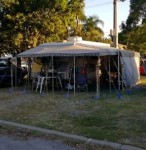Newage manta ray triple bunk caravan