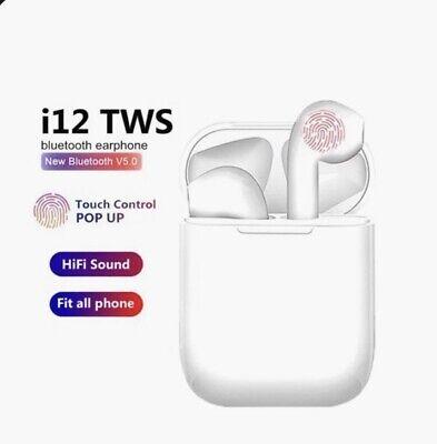 TWS wireless Bluetooth Air Pods. Ear Buds. White.