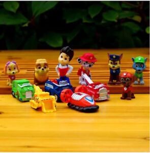 NEW 12 pieces Paw Patrol Playset (Mini figures and racers)