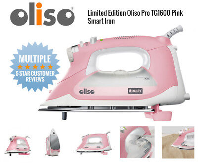 Oliso Smart Steam Iron Press TG1600 Pro 1800W w/ iTouch Technology TG 1600 Pink