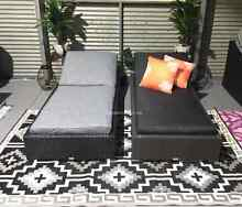 OUTDOOR sun pool lounge bed premium fabric & cushions XL frame Hendon Charles Sturt Area Preview