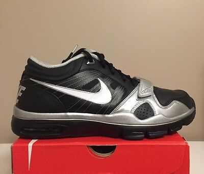 New Nike Trainer 1.2 Mid 407766-011 Black Silver Shoes Men's Sz 10 DEADSTOCK