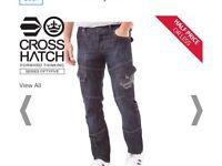 Men's W38 L32 crosshatch cargo jeans NEW