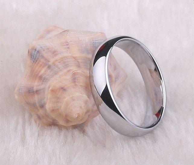 USA Seller 4mm Titanium Comfort Fit Plain Rings Wedding Band Size 4-13 RT007