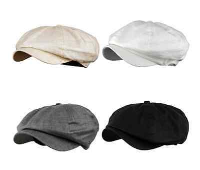Men's Linen 8 Panel Applejack Gatsby Newsboy Ivy Hat