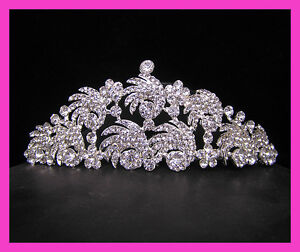 Wedding-Bridal-crystal-veil-tiara-crown-headband-CR235