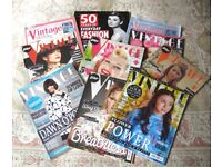Free To Collector 10 x Vintage Fashion magazines