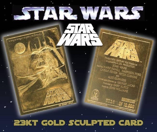 Star Wars A NEW HOPE Original Movie Poster 23KT Gold Card Sculptured #/10,000
