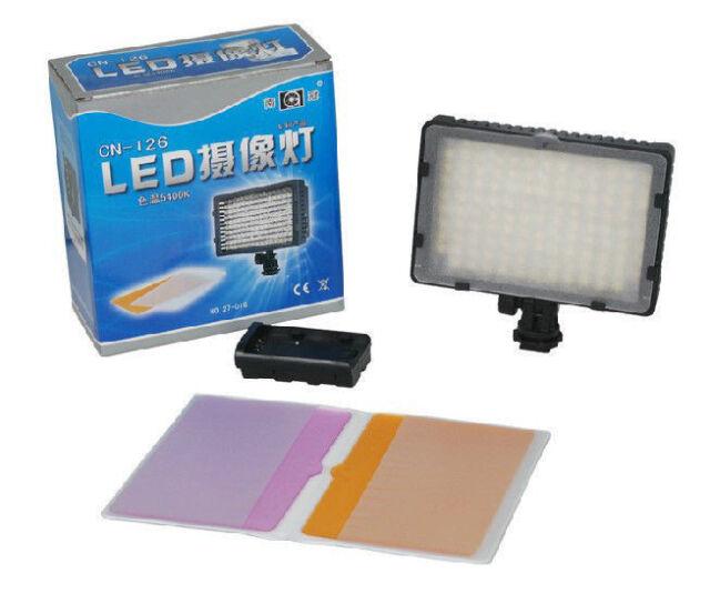 CN-126 LED Video Photo Lamp Light for Canon Nikon DSLR Camera DV Camcorder 5400K