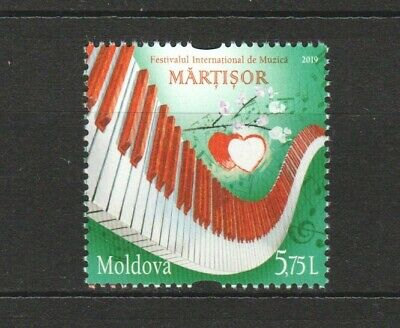 MOLDOVA 2019 INT'L MUSIC FESTIVAL PIANO KEYS COMP. SET OF 1 STAMP IN MINT MNH