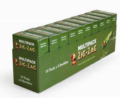 Zig Zag Green Multipack Standard 80 Booklets