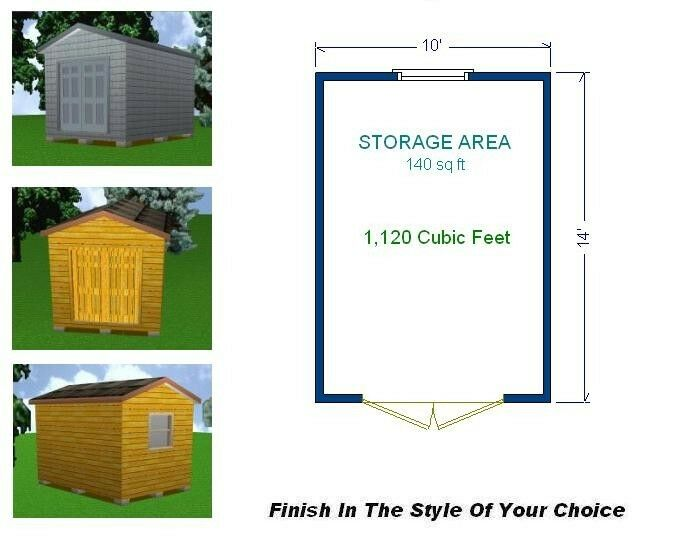 10x14 storage shed plans package blueprints material for Shed plans and material list