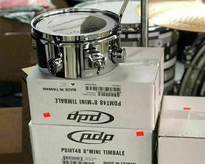 DW PDP MINI TIMBALE 4X8 Chrome Timbale Drum PDMT48