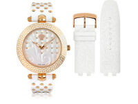 Brand New Versace Vanitas Analog Quartz Women's Quartz Watch with Silver Leather VK7010013