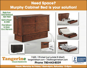 Folding Murphy Cabinet Guest Bed - Queen Size - In Stock