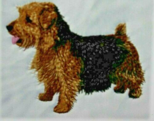 Norfolk Terrier Dog Breed Bathroom SET OF 2 HAND TOWELS EMBROIDERED Personalized
