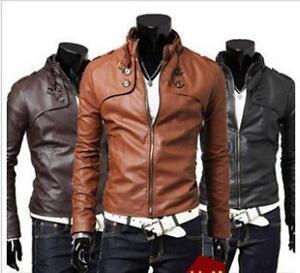 Neuf Faux Cuir PU Veste Courte Moto Blouson Homme Manteau Jacket Coats