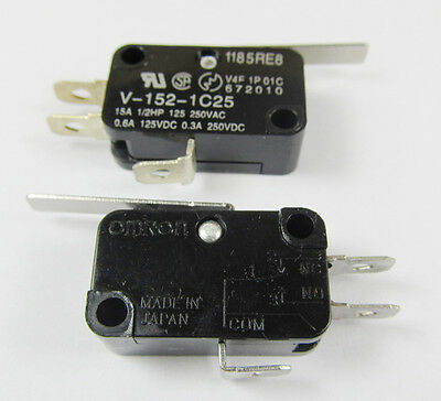 50pcs Omron Miniature Basic Micro Switch V-152-1c25 Spdt Thermosetting Case