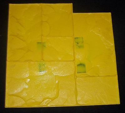 Floppy Notched Ashler Slate Decorative Concrete Cement Texture Imprint Stamp Mat