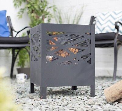 Modern Steel Fire Pit Fire Bowl Garden Incinerator Patio Heater Garden Brazier
