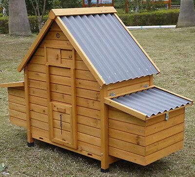 CHICKEN COOP HEN HOUSE POULTRY ARK RABBIT HUTCH RUN NEW LARGE DUCK BIRDS PLASTIC